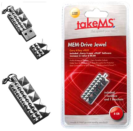 takeMS MEM-Drive Jewel - экстравагантная флэшка-брелок