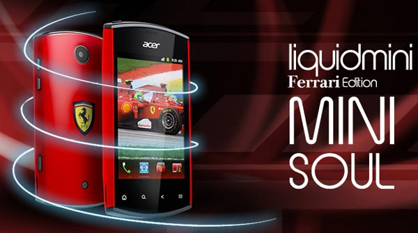 Acer Liquid mini Ferrari Edition - Acer показала смартфон на IFA 2011.