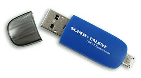 Super Talent представила быструю 2-in-1 флешку USB 3.0 Express Motile