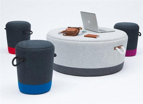 Новинка «Duffel Stool and Ottoman» от Tim Webber