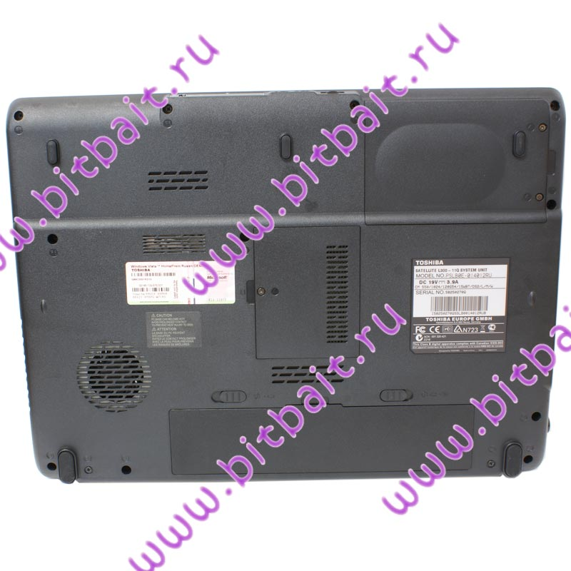 Ноутбук Toshiba Satellite L300-1C6 T5800 / 3072Мб / 160Гб / DVD±RW / GMA4500MHD до 1340Mб / Wi-Fi / Cam / 15,4 дюймов / WVistaHP Картинка № 7