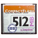 Compact Flash Card 512Mb Kingston CF/512 Retail