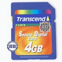 SD 4Gb Transcend TS4GSD133 SD Memory Card 133X